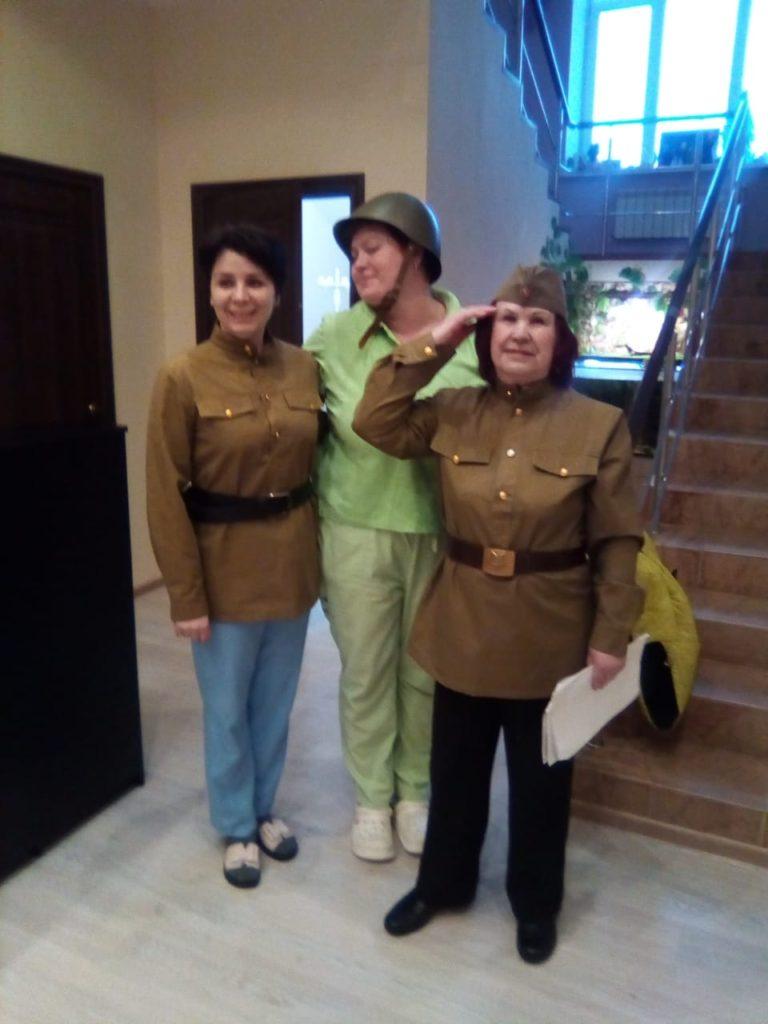 Пансионат для пожилых «Лосиный остров» в плотном строю празднует День защитника отечества!